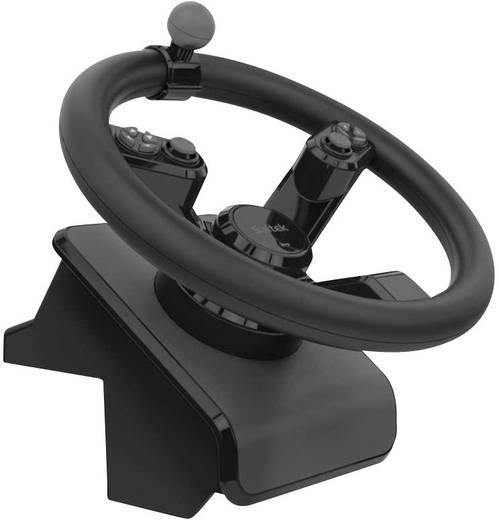 lenkrad mit pedalen saitek landwirtschaftssimulator set usb pc schwarz kaufen conrad. Black Bedroom Furniture Sets. Home Design Ideas