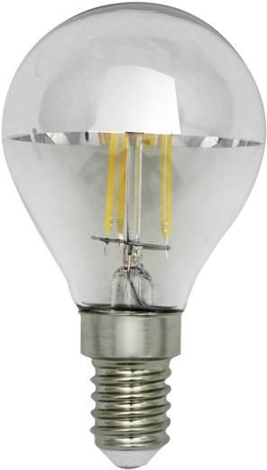LightMe LED EEK A+ (A++ - E) E14 Tropfenform 4 W Warmweiß (Ø x L) 45 mm x 80 mm Filament 1 St.