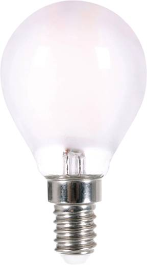 LightMe LED EEK A++ (A++ - E) E14 Tropfenform 4 W = 35 W Warmweiß (Ø x L) 45 mm x 80 mm Filament 1 St.