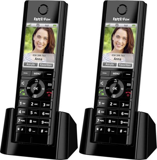 AVM FRITZ!Fon C5 Duo Set Schnurloses Telefon VoIP Babyphone, Freisprechen, Headsetanschluss Farbdisplay Schwarz