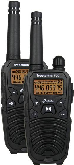 PMR radiostanice Stabo Freecomm 700 20700 sada 2 ks