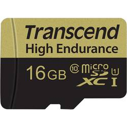 Pamäťová karta micro SDHC, 16 GB, Transcend High Endurance, Class 10, vr. SD adaptéru