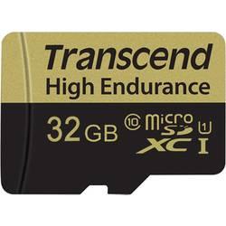 Pamäťová karta micro SDHC, 32 GB, Transcend High Endurance, Class 10, vr. SD adaptéru
