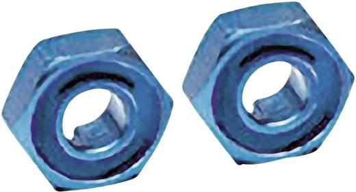 Traxxas TRX1654X Radnaben, hex (blau-eloxiert, Aluminium-Leichtbauweise) (2) / Achszapfen (2)