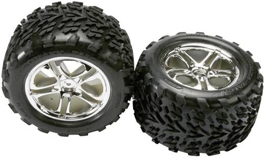 Traxxas TRX5174 Reifen & Felgen , vormontiert, verklebt (SS) Chrom