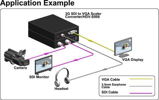 AV Konverter [SDI - VGA, Klinke] 1920 x 1200 Pixel SpeaKa Professional SP-SDI/VGA-01