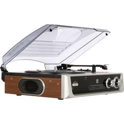 Gramofon Dual DTR 50, řemínkový pohon, stříbrnočerná