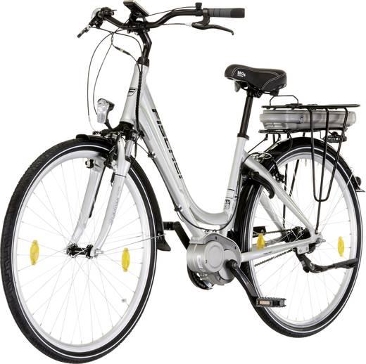 e bike mit trittantrieb fischer fahrrad ecu1603 ecoline damen city 28 silber li ion 36 v 8 8. Black Bedroom Furniture Sets. Home Design Ideas