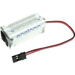 Akupack - sada nabíjacích batérií Ni-MH 4 micro (AAA) s káblom, so zástrčkou Panasonic eneloop Würfel F2x2 124005, 750 mAh, 4.8 V