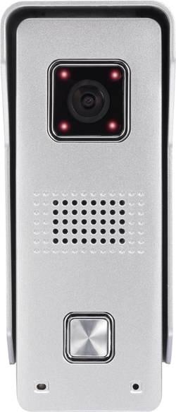 Venkovní jednotka s Wi-Fi Basetech pro domovní IP/video telefon, pro 1 rodinu, stříbrná