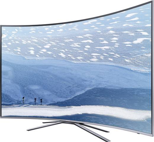 LED-TV 138 cm 55 Zoll Samsung UE55KU6509 EEK A DVB-T2, DVB-C, DVB-S, UHD, Curved, Smart TV, WLAN, CI+ Silber