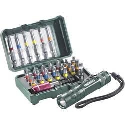 Sada bitov s vreckovou baterkou Metabo 626721000, 29-dielna