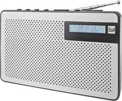 DAB+ přenosné rádio Dual DAB 82, DAB+, FM, stříbrná