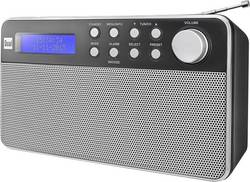 DAB+ přenosné rádio Dual DAB 36, DAB+, FM, černá, stříbrná