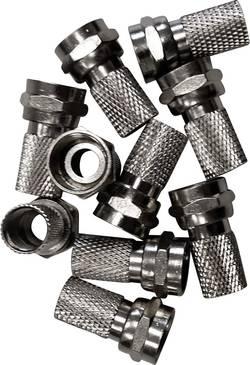 Lot de connecteurs F mâles pour Ø câble: 7.50 mm BKL Electronic 0403456 à tourner 10 pc(s)