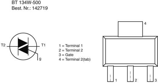 Thyristor (SCR) - TRIAC NXP Semiconductors BT134W-600,115 SC-73 1 A 500 V