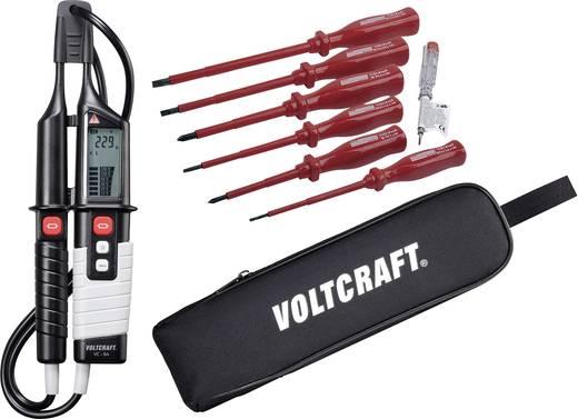 VOLTCRAFT Zweipoliger Spannungsprüfer VC 64 + VDE Schraubendreher-Set + Voltcraft Tasche