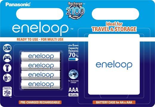 Panasonic eneloop HR03 + Box Micro (AAA)-Akku NiMH 750 mAh 1.2 V 4 St.