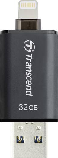USB-Zusatzspeicher Smartphone/Tablet Transcend JetDrive™ Go 300 Schwarz 32 GB USB 3.1, Apple Lightning