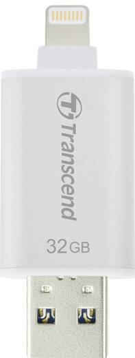 USB-Zusatzspeicher Smartphone/Tablet Transcend JetDrive™ Go 300 Silber 32 GB USB 3.1, Apple Lightning