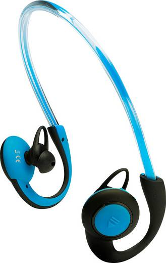 Bluetooth® Sport Kopfhörer Boompods Sportpods Vision In Ear Headset, Ohrbügel, Schweißresistent, Wasserabweisend Blau