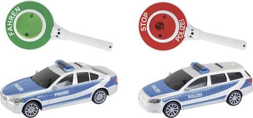 City Line Polizeiauto mit Polizeikelle