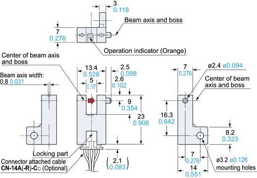 Panasonic PM-F64 Gabel-Lichtschranke hellschaltend, dunkelschaltend 5 - 24 V/DC 1 St.
