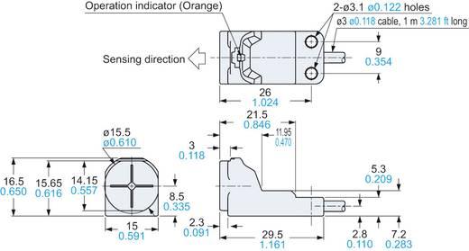 Panasonic Induktiver Näherungsschalter NPN GX-H15B