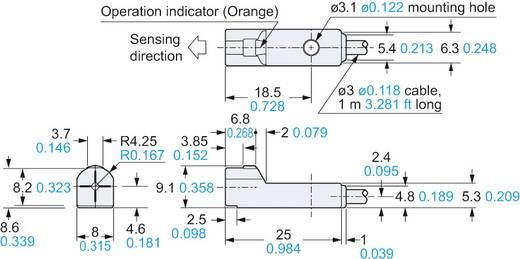Panasonic Induktiver Näherungsschalter NPN GX-H8A