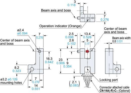 Panasonic PM-R64 Gabel-Lichtschranke hellschaltend, dunkelschaltend 5 - 24 V/DC 1 St.