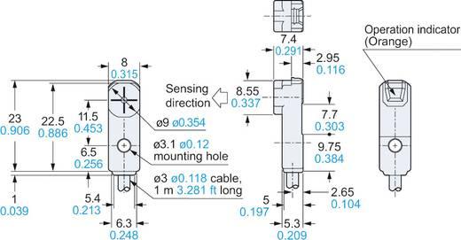 Panasonic Induktiver Näherungsschalter PNP GX-F8A-P