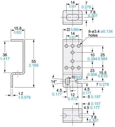 Montagewinkel, Serie MSCX Panasonic MSCX22 Ausführung (allgemein) Montagewinkel