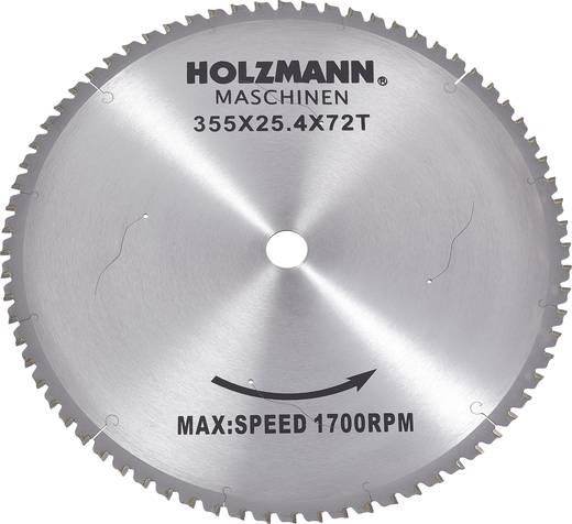 Hartmetall Kreissägeblatt 355 x 25.4 mm Zähneanzahl: 72 Holzmann Maschinen MKS355SB MKS355SB 1 St.