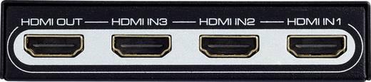 SpeaKa Professional 3 Port HDMI-Switch mit Fernbedienung, Ultra HD-fähig 3840 x 2160 Pixel