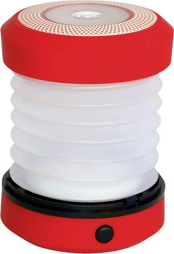 LED Camping-Leuchte Eufab LED CAMPINGLATERNE batteriebetrieben 160 g Rot 13497