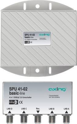 Image of DiSEqC-Schalter Axing SPU 41-02 5 (4 SAT/1 terrestrisch) 1