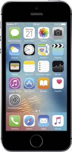 Apple iPhone SE Refurbished 10.2 cm (4 Zoll) 32 GB 12 Mio. Pixel iOS 9 Spacegrau