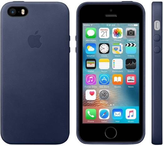 Apple Leder Case iPhone Backcover Passend für: Apple iPhone SE, Mitternachts-Blau