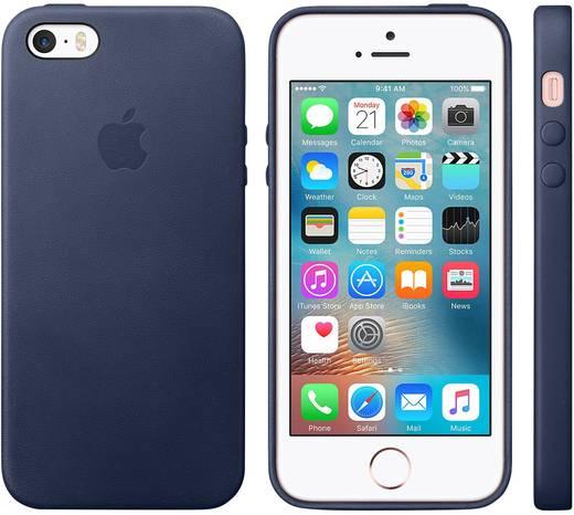 iphone backcover apple leder case passend f r apple iphone se mitternachts blau kaufen. Black Bedroom Furniture Sets. Home Design Ideas