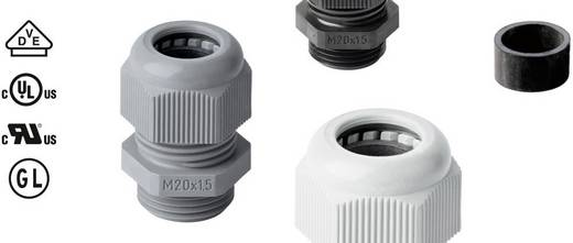Jacob 50.620 PA7001 Kabelverschraubung mit Zugentlastung M20 Polyamid Silber-Grau (RAL 7001) 1 St.
