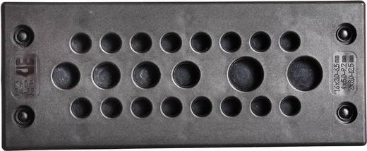 Jacob F305-9240-08 Kabeldurchführungsplatte Klemm-Ø (max.) 6.5 mm Polyamid Schwarz 1 St.