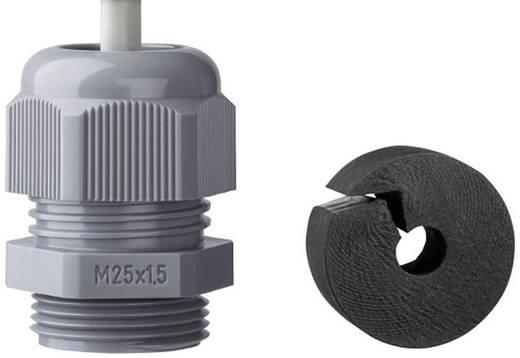 Jacob K345-1025-01 Kabelverschraubung mit Zugentlastung M25 Polyamid Silber-Grau (RAL 7001) 1 St.