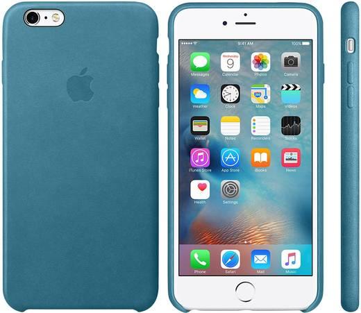 Apple Leder Case iPhone Backcover Passend für: Apple iPhone 6S Plus, Apple iPhone 6 Plus, Marine-Blau