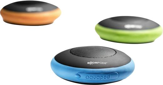 Bluetooth® Lautsprecher Boompods Aquapod Freisprechfunktion, spritzwassergeschützt, stoßfest Blau