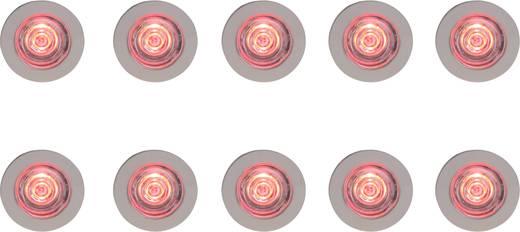 Brilliant Cosimo G94670/13 LED-Einbauleuchte 10er Set 7.5 W RGB Eisen, Transparent