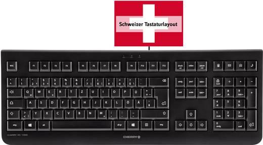 USB-Tastatur CHERRY KC 1000 Schwarz Schweiz, QWERTZ, Windows®