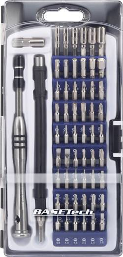 Bit-Set 58teilig Basetech 1430586 Schlitz, Kreuzschlitz Phillips, Innen-TORX, TORX BO, Innen-Sechskant, Innen-Vierkant