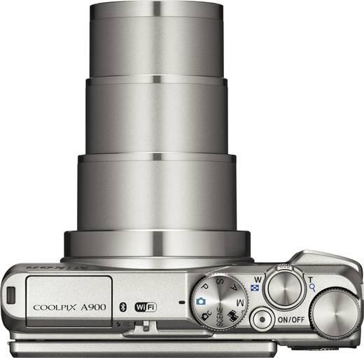 Nikon A-900 Digitalkamera 20 Mio. Pixel Opt. Zoom: 35 x Silber WiFi, Klappbares Display
