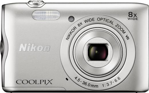 Nikon Coolpix A-300 Digitalkamera 20.1 Mio. Pixel Opt. Zoom: 8 x Silber Bluetooth, WiFi