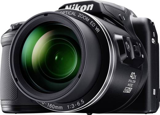 Nikon Coolpix B-500 Digitalkamera 16 Mio. Pixel Opt. Zoom: 40 x Schwarz Full HD Video, Klappbares Display, Bluetooth